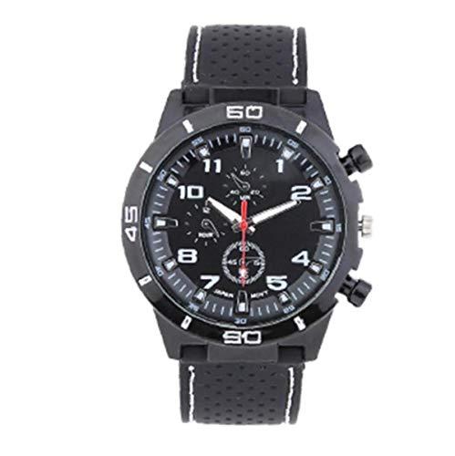 Donne leggera orologio sportivo analogico al quarzo trasparente grandi di manopola Guarda con bracciale in silicone orologio da polso Casual batteria incorporata-bianco per Watch