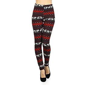 N004-EXTRAPLUS Christmas Rush Print Fashion Leggings