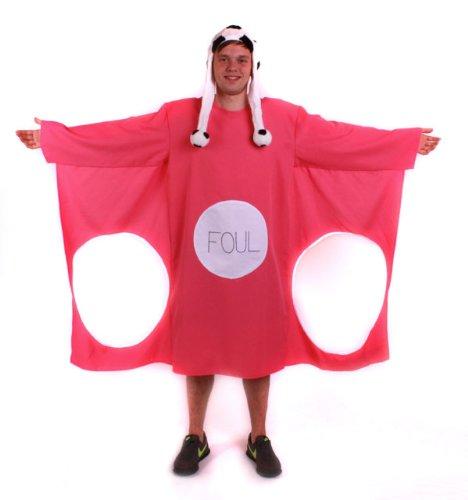 TH-MP Junggesellinnenabschied Kostüm Torwand pink XL mit Fußball Mütze witzige Kostüme JGA