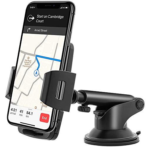 Amazon Brand - Eono Porta Telefono Auto, Supporto Smartphone per Auto, per Cruscotto e Parabrezza con Rivestimento Lavabile in Gel, Compatibile con iPhone, Samsung, Huawei, ECC