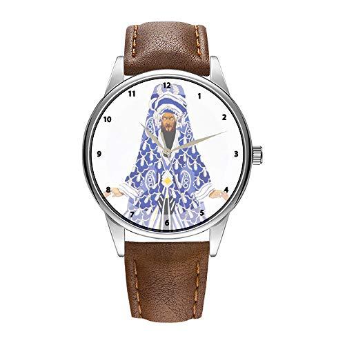 Herrenuhr braun Cortex Quarzuhr für Männer berühmte Armbanduhr Quarzuhr für Werbegeschenk Jugendstil-Le Sultan Vindicatif - Leon Bakst Armbanduhr