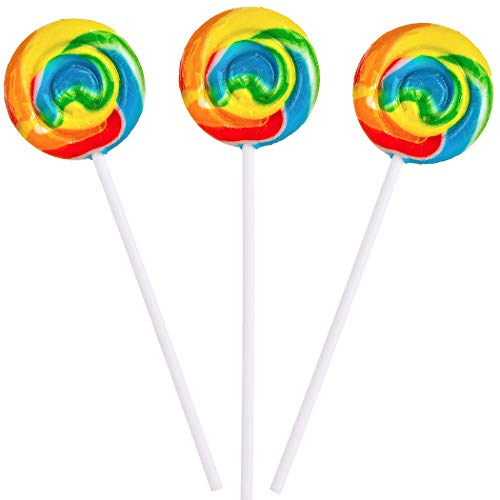 Rainbow Swirl Pops - 12 Suckers