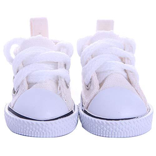 Sysow Sneaker, Denim Puppe Segeltuchschuhe, Puppenschuhe Puppenturnschuhe - Puppenkleidung & Puppenzubehör für Babypuppen American Girl Dolls14-Zoll
