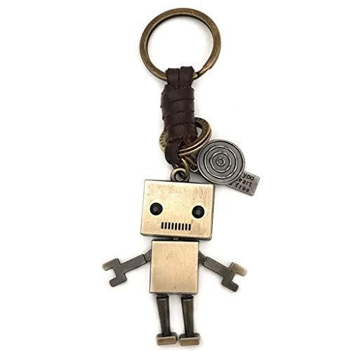 Decoración Creativa del Robot Llavero del Coche del sostenedor del Anillo de la Cadena de Dibujos Animados Mujer Hombre Mochila Clave Pendiente de la joyería del Regalo de cumpleaños Anillo dominante