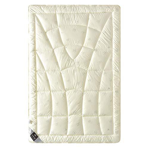 Sei Design la Laine la Couverture de lit   Wool Comfort avec Les Plus Fins, extrêmement bauschige de la Laine de Tonte véritable de manière remplie - Chaud d'hiver 135x200