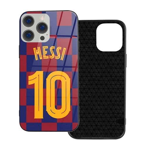 Lionel Messi caja del teléfono para el iPhone 12 Pro Mini lujo vidrio teléfono móvil casos ventilador regalo (negro, IP12mini-5.4)