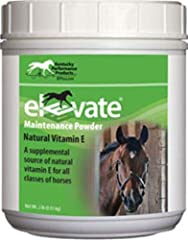 Elevate Maintenance Powder supplies your horse with a highly absorbable and readily available source of natural vitamin E that quickly provides necessary nutrients. Offers you an easy and affordable way to meet your horse's essential vitamin E needs....