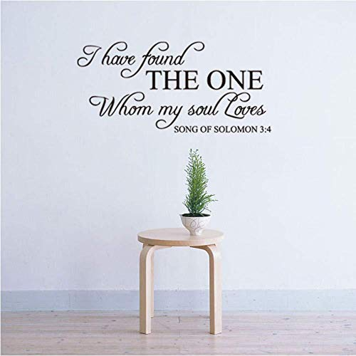 Pegatinas de pared con texto en inglés 'I Have Found The One Whom My Soul Loves Lettering - Adhesivo decorativo para pared