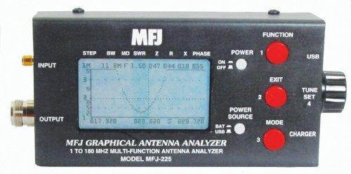 MFJ-225 MFJ225 Original MFJ Enterprises HF/VHF Two-Port Graphic Antenna Analyzer
