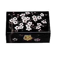 JCCOZ-T 木製の宝石箱、オリエンタルスタイルのジュエリー&アクセサリーボックス、小さな宝箱の引き出し - 装飾のための仕上げ容器 JCCOZ-T (Color : A)