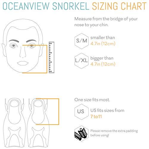 cozia design Snorkel Set with Full Face Snorkel Mask and Travel Adjustable Swim...