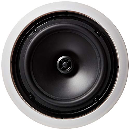 """AmazonBasics 8"""" Round In-Ceiling In-Wall Mounted Speakers, Set of 2"""