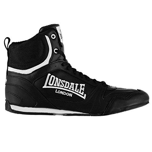Lonsdale - Zapatillas de Piel para hombre, color Negro, talla 8.5 (42.5)