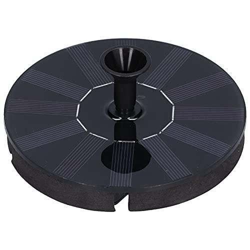 Bomba de fuente solar flotante, liviana y prolongada Bomba de fuente de energía solar Opciones de boquillas múltiples para bomba de agua de fuente solar