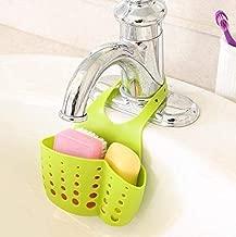 EKRON Kitchen Bathroom Sponge Soap Water Draining Hanging Plastic Holder Organizer (Standard Size, Random Colour)