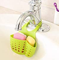 Storage Holders & Racks, Bathroom Shelves, Classification: Non-folding Rack, Applicable Space: Kitchen, Material: Plastic The push button design, which is convenient to remove: It is easy to hang it on the faucet in the kitchen, which can place the d...