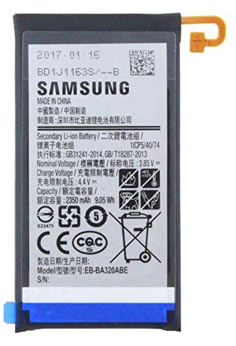 Batteria per Samsung Galaxy A3 (2017) agli ioni di litio con 2350 mAh – Accessori originali Samsung incluso display