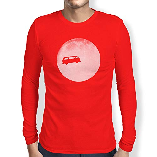 Nexxus Full Moon Bulli T3 - Herren Langarm T-Shirt, Größe XL, rot