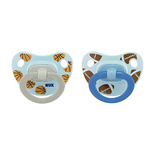 NUK Sports Orthodontic Pacifiers, Boy, 6-18 Months, 2-Pack, 18-36 Months (Pack of 2)