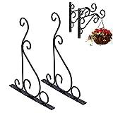 Soporte para colgar, gancho de pared para colgar plantas, soporte de 11 lb / 5 kg con tornillos para linternas para decoraciones navideñas para