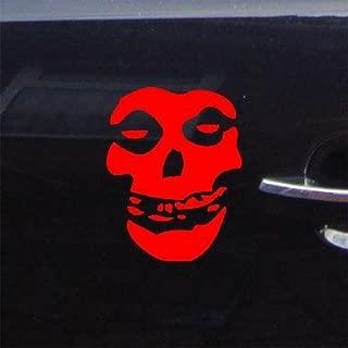 reprowiwi Home Decor Car Window Sticker Decal Decor Auto Bike Misfits Punk Rock Band Skull Decoration Laptop Red MacBook Vinyl Notebook Wall Adhesive Vinyl Helmet Wall Art Art