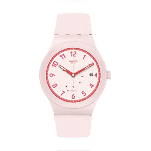 Swatch Reloj Analógico para Mujer de Automático con Correa en Silicona SUTP402