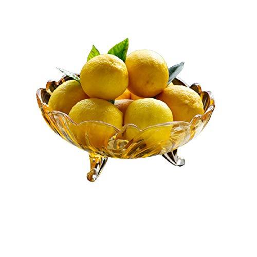 hsy Ensalada/Frutero,Geométrico DISEÑO Bandeja de Almacenamiento Soporte de Almacenamiento de Pan de Productos Vegetales Frutas y nueces Organizador de Armario de Cocina Decorativo Plato Fiesta