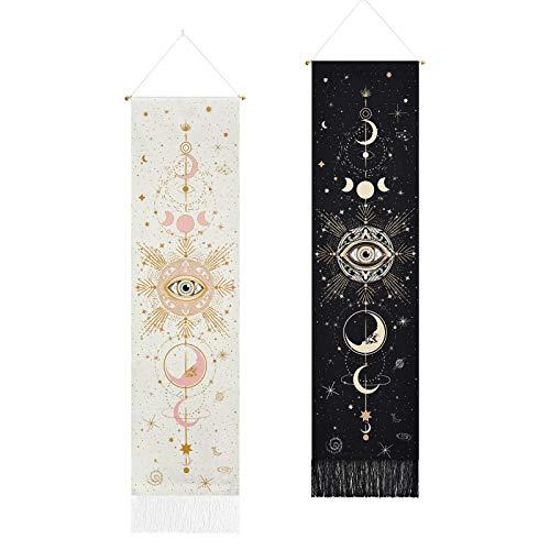 Yugarlibi Yugarlibi 2er Set Mondphasen Wandteppich Bild