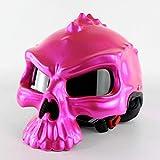 BIN Casque personnalisé, Demi-Casque de Locomotive de Mode, Casque Double-Face Frais,Pink,M