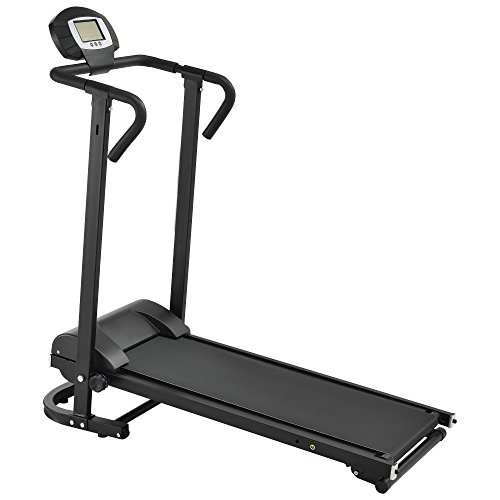 in.tec] Cinta de Correr [Negra] mecánica (NO automático) con Pantalla LCD Plegable Entrenamiento en casa Fitness