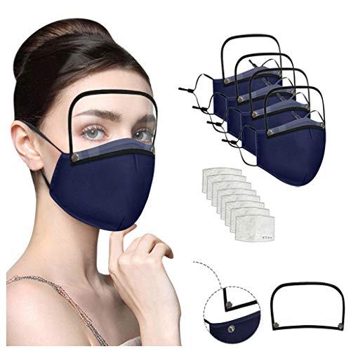 sp1 Sallyohno Tätowierzubehör Baumwolle Tücher Dunst im Freien Staub Gesicht Gesundheitsschutz mit Augen Bandana + 2 Filter (Navy)