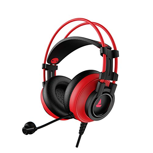 boAt Immortal IM-200 7.1 Channel USB Gaming Headphone with RGB Breathing LEDs & 50mm Drivers(Raging Red)