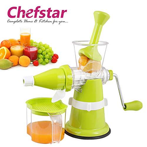 Chefstar Modern Fruit & Vegetable Juicer with Steel Handle, Green