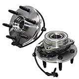 Detroit Axle - 4WD Front Wheel Bearing and Hub Assembly for Chevy Silverado Sierra Suburban 1500 Tahoe, GMC Yukon Savana, Cadillac Escalade - 2PC Set 515036