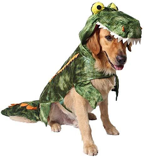 2021 decoración del partido de Halloween de la piel de cocodrilo cocodrilo lindo perro mascota traje traje de perro de tamaño: XXL DOISLL (Color : Green)