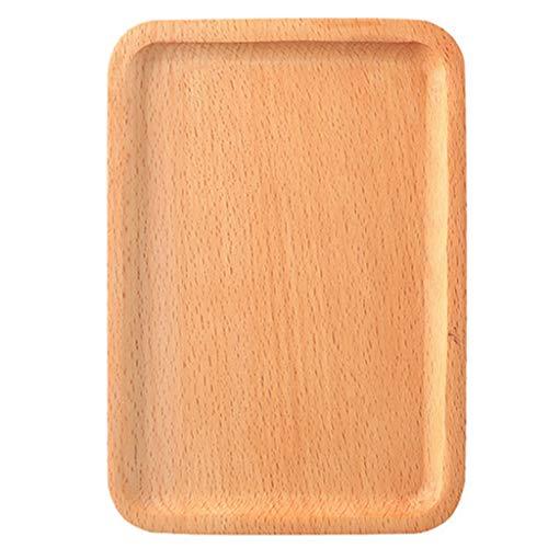 JOYKK 18,5x13 cm Holz Tablett Couchtisch Butler Serviertabletts zum Frühstück im Bett Tee Kaffee - 1#