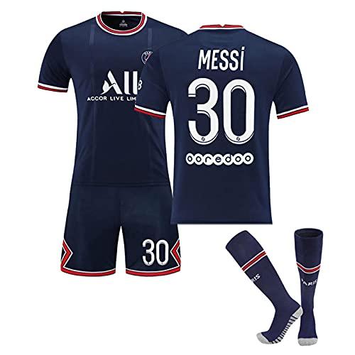 N°30 Maillot Messi21-22 Paris Domicile, Maillots Football, VêTements Football, Enfant GarçOn Football Maillot, Equipe Football T-Shirt, Maillot Foot, T-Shirt en Jersey D'EntraîNement pour Hommes
