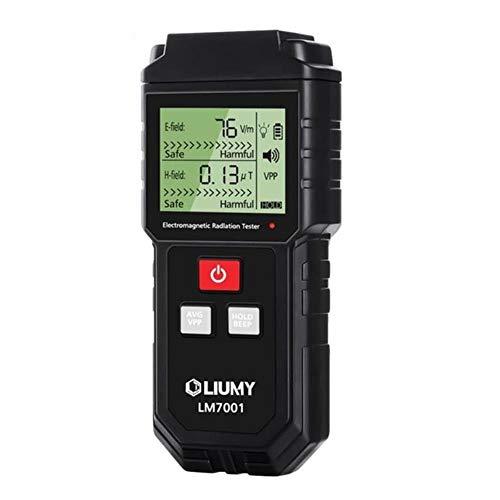 MLQ Strahlungsdetektor für elektromagnetische Felder, digitales LCD-Handmessgerät für elektromagnetische Strahlung, für Haushalt, Büro, Außenbereich, Industriestandort