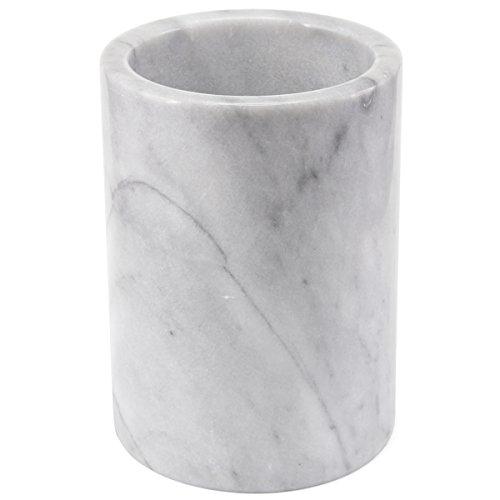 Creative Home Natural Marble Tool Crock Utensil Holder, 5