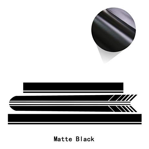 RZL-01 Ruiziliang Door Side Stripes Skirt Sticker Car Hood Trunk Body Kit Decal for ML Class W163 W164 W166 ML63 A-M-G ML320 ML350 (Color Name : Matte Black, Size : for W166)