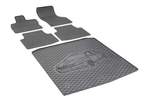 Passende Gummimatten und Kofferraumwanne Set geeignet für Skoda Superb III Kombi ab 2015 + Gurtschoner