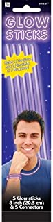 Amscan Party Centre Glow Sticks - Purple, Pack of 5
