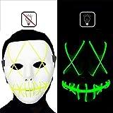 dee banna Halloween Scary Maske Led Cosplay Kostüm Maske EL Wire Light up Maske für Halloween Festival Parties