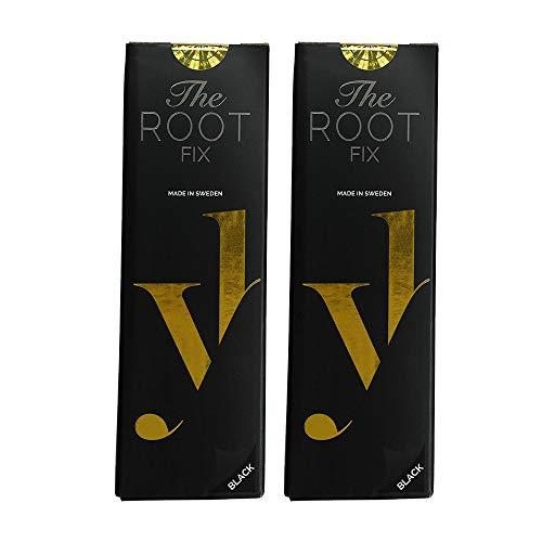 YoungHair The Root Fix Schwarz Haarfarbe-Spray,Retoucher-Ansatzspray für graue Haare,2 x 125 ml Flaschen