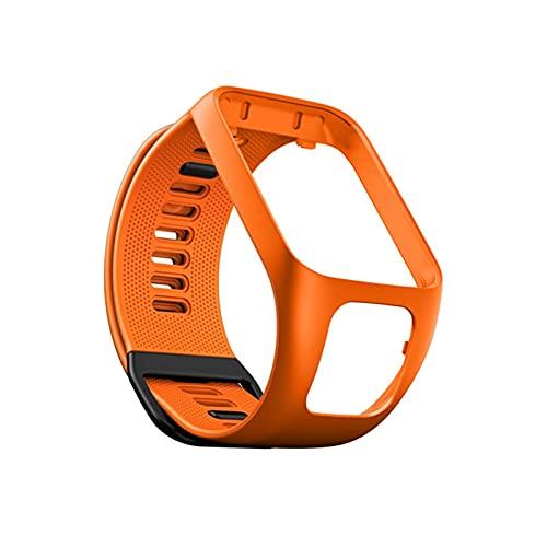 YDL para Tomtom Runner 2 3 Spark Plug 3 3 Sports Reemplazo De La Muñeca Tom 2 3 Series Silicone Smart Accessories Pulsera (Color : Orange)