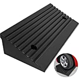 Mophorn Curb Ramp Heavy Duty 5 Ton Rubber Curb Ramp 4' High 23-1/2' Length Car Ramp for Loading Dock Bike Mower Cart