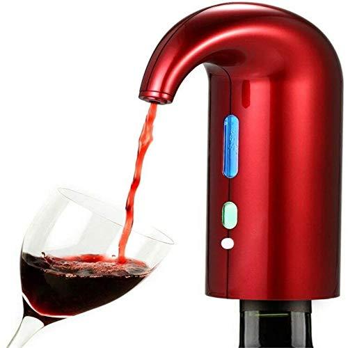Dispensador automático del vino Electric Wine Airator Voiler Filter Filter Filter Pourer Sput, Portable Touch Vino Decanter USB Recargable Sput Poulder para los aman red-16.5 * 11.5 * 6cm