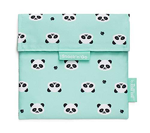 Roll'eat - Snack'n'Go Animals Panda - Bolsa Merienda Porta Sandwich Ecológica y Reutilizable sin BPA