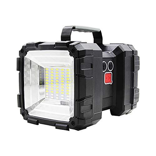 FITYLE Recargable de Mano LED Spotlight Linterna portátil Super Brillante de Alta Potencia Reflector Camping Linterna de Trabajo luz USB Banco de energía - W844