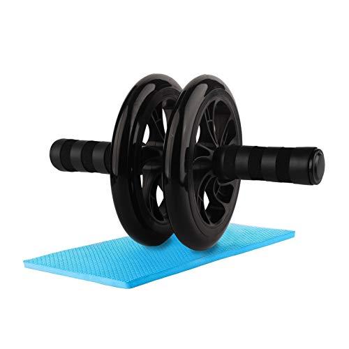WeyTy Bauchtrainer AB Roller, Bauchroller AB Wheel Abdominal Roller Sehr Leise Fitnessgerät und Bauchmuskeltrainer für Starke Schultern/Arme/Rücken/Bauchmuskeln, Standhält 200kg (Schwarz)